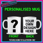QUESTION MARK MUG  DEAL NO PERSONALISED DESIGN
